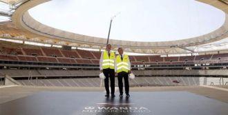 Méndez de Vigo revisa las obras del Wanda Metropolitano