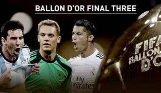 Cristiano, Messi y Neuer, a por el Balón de Oro