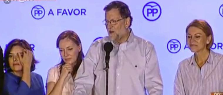 Gana Rajoy, ti�e Espa�a de azul y todos los demas pierden sin excusas