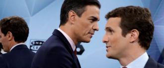 Casado quiere un duelo espalda contra espalda con Pedro Sánchez