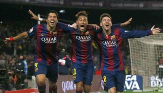 El tridente del Barcelona acaba con el Atleti