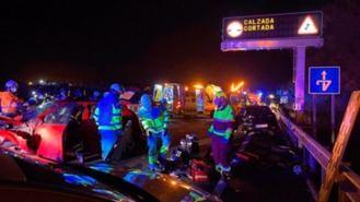 Un accidente múltiple entre 8 vehículos a la altura de Móstoles deja un herido grave
