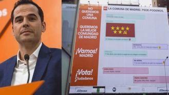 C.s y su lona acusatoria contra PSOE, Podemos y Errejón, quiren hacer 'una comuna'