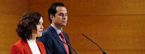 Ayuso y Aguado enfrentados: Las dificultades de Madrid para pasar a la fase 1 el 11-M