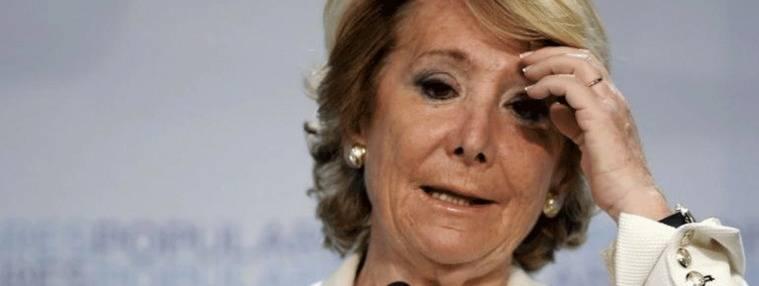 El `annus horribilis´ de Aguirre: Condenada a las costas de su pleito con Sánchez