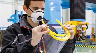 Airbus fabrica viseras impresas en 3D para el personal sanitario