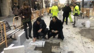 70.000 euros para las obas de mejora y pavimentación de la zona peatonal de la calle Mayor