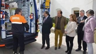 La nueva ambulancia del Servicio de Transporte Sanitario se convierte en UVI móvil
