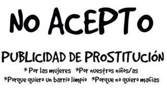 Asociaciones vecinales y AMPAs piden rechazar en los coches los anuncios de prostitución