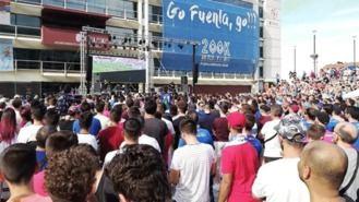 Más de 5.000 personas festejan el ascenso del CF Fuenlabrada a Segunda Divisón