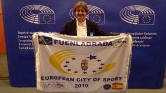 Ayala recoge en Bruselas la bandera de `Ciudad Europea del Deporte 2019´