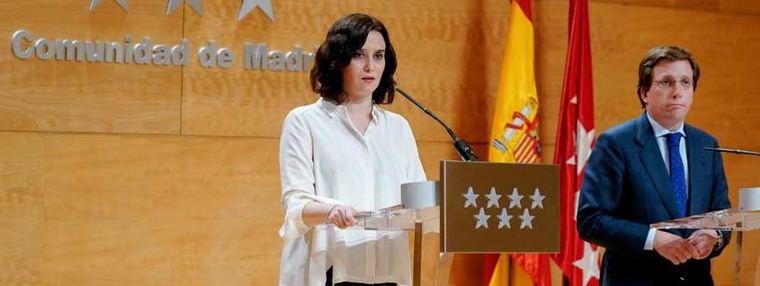 Madrid al límite: Ayuso y Almeida claman a Sánchez, 'por favor envíen material'
