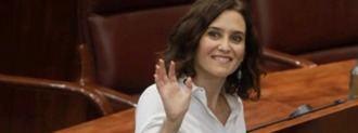 Ayuso investida presidenta de la Comunidad: Recupera a Dancausa, Izquierdo y Rivera para su Gobierno