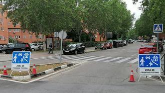 Varias calzadas de Covibar se convierten en zonas con prioridad peatonal