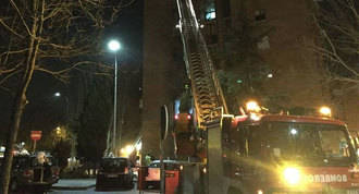 Ocho intoxicados por humo en un aparatoso incendio en Rivas
