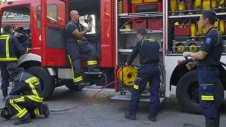 Homenaje a los 10 bomberos muertos en los Almacenes Arias