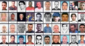 Cincuenta y siete nombres de los criminales más buscados de Europa