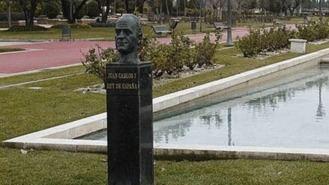 Pinto retirará el nombre y el busto de Juan Carlos I de su mayor parque