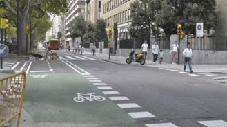 Una asociación pide eliminar el carril bici de Santa Engracia por 'extremadamente peligroso'