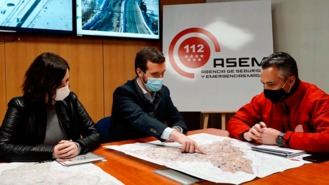 Casado habla de 'estar unidos' y pide la declaración de zona catastrófica de Madrid