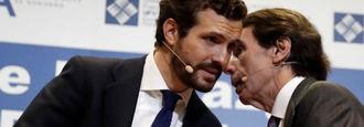 Los susurros de Aznar que mueven a Casado