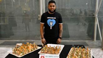 Bomón de paté y salmón marinado, menú de la cena solidaria para 1.000 personas