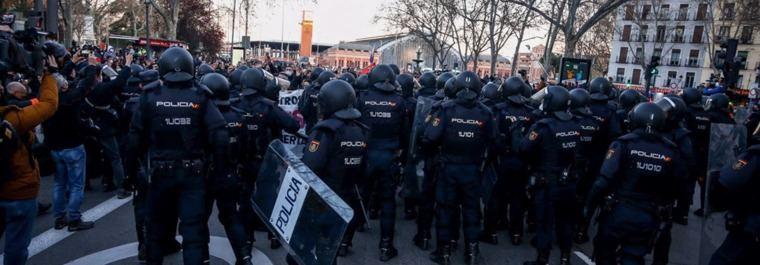 'Preocupación' en Cibeles por la marcha 'contra las leyes represivas'