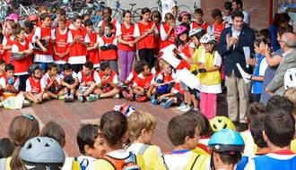 320 escolares participan en la Ruta Ciclista de la Movilidad