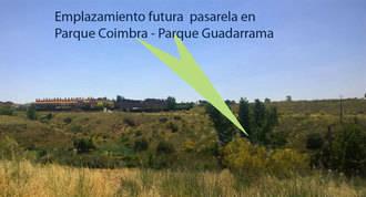 Aprobada la pasarela entre Parque de Guadarrama y Coimbra