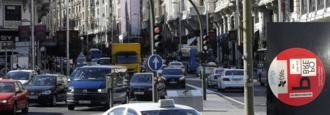 `P´ de pobre, distintivo para conductores contrarios a Madrid Central