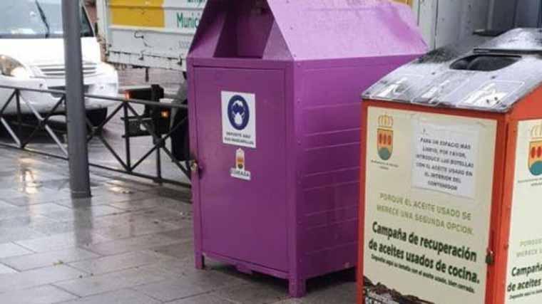 Esmasa instala contenedores específicos para depositar mascarillas