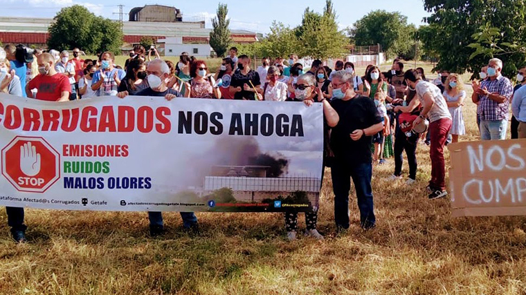 UP llevará a la Asamblea de Madrid los 'problemas de ruidos y malos olores' de Corrugados