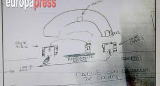 Dos croquis dibujados por una víctima, clave para localizar al pederasta