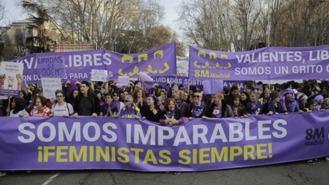 Comisión del 8M: Una cadena feminista teñirá de morado el centro durante febrero