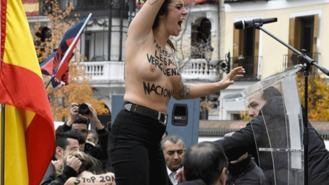 Detenido un miembro de falange por el altercado con activistas de Femen