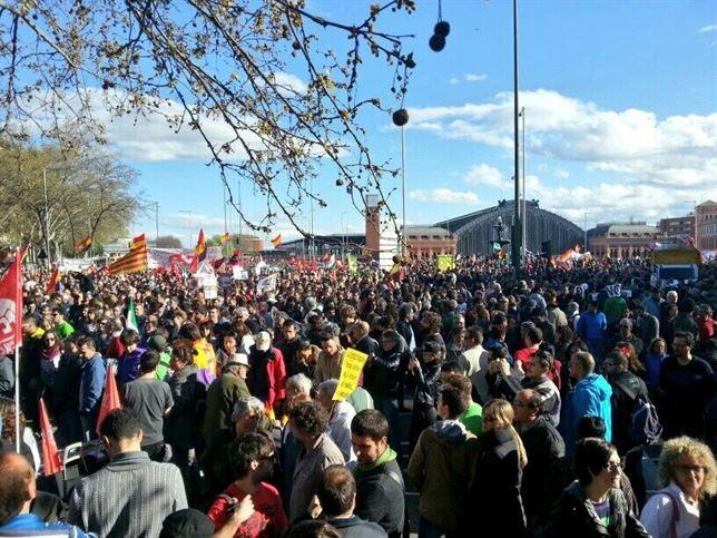 Las marchas de la dignidad piden pan y trabajo en la Puerta del Sol