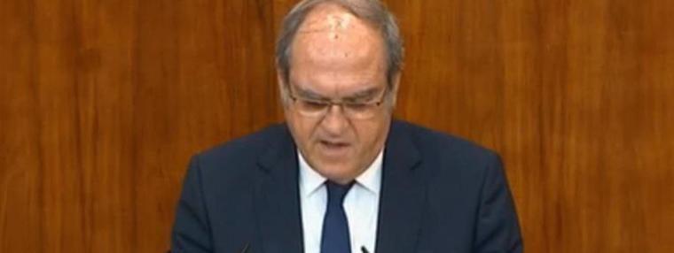 Gabilondo abre la puerta a la moción de censura contra Ayuso