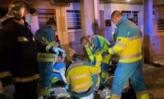 Herida muy grave una mujer de 56 años en un incendio en Perales