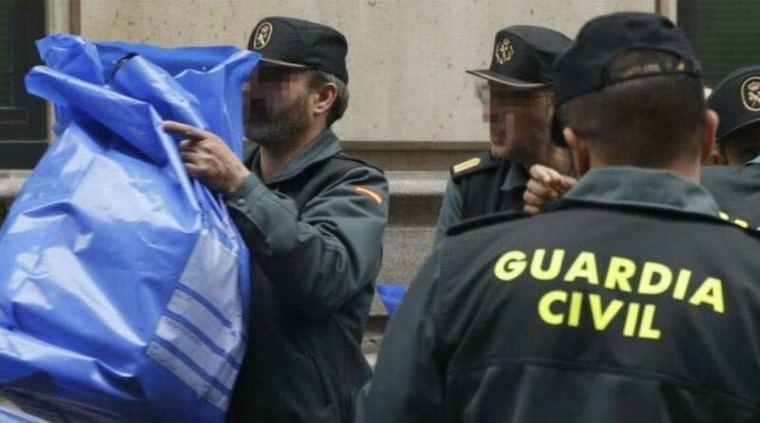 Intervenidas en una fábrica de Jaén 150.000 mascarillas, que han sido trasladadas a Madrid