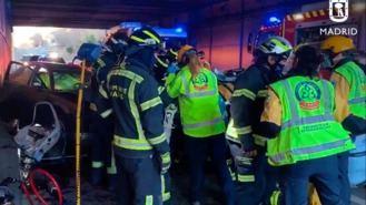 Dos heridos graves en un choque frontal en un túnel debajo de la A-2