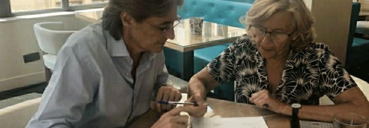 Liderazgo en la sombra: Reunión de trabajo de Carmena e Higueras