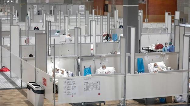 Madrid baja por primera vez en tres semanas de los 10.000 hospitalizados