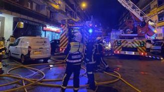 Dos heridos graves en el incendio de un bloque de viviendas en Leganés