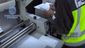 Desmantelado el mayor laboratorio de falsificación documental descubierto hasta ahora
