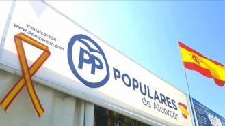 Roban un lazo 'en defensa de la unidad de España' de la caseta de fiestas del PP