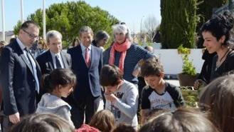 """El embajador de Francia visita el Liceo Molière en la """"Quincena de la Eco-escuela"""""""