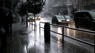 Activado el aviso amarillo por fuertes lluvias y tormentas en toda la región