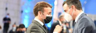 Pedro Sánchez con Emmanuel Macron