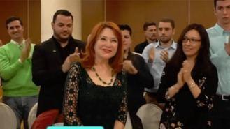 La madre de Irene Villa, simpatizante de Vox en un acto de Monasterio