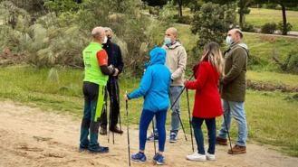 El Monte del PIlar acogerá el primer circuito 'Nordic Walk' de la región